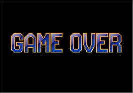 Game Over Screen for F1 Exhaust Note.