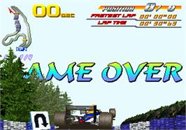 Game Over Screen for F1 Super Battle.