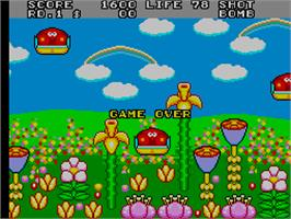 Game Over Screen for Fantasy Zone 2.