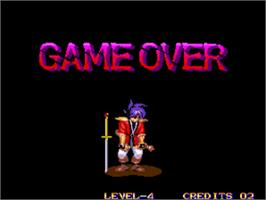 Game Over Screen for Far East of Eden - Kabuki Klash / Tengai Makyou - Shin Den.