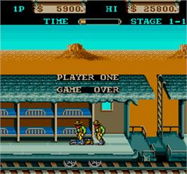 Game Over Screen for Far West.