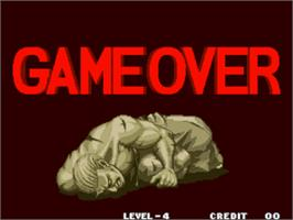 Game Over Screen for Fatal Fury 3 - Road to the Final Victory / Garou Densetsu 3 - haruka-naru tatakai.