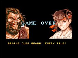 Game Over Screen for Fighter's History.