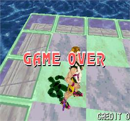 Game Over Screen for Fighters' Impact.