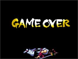 Game Over Screen for Fighters Swords.