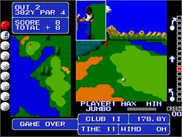 Game Over Screen for Fighting Golf.