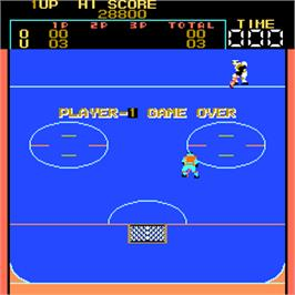 Game Over Screen for Fighting Ice Hockey.