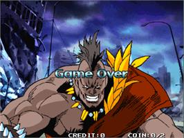 Game Over Screen for Fighting Mania.