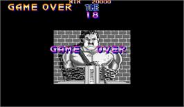 Game Over Screen for Final Fight.