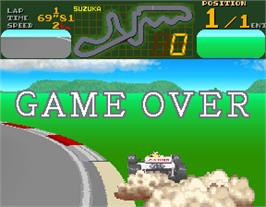 Game Over Screen for Final Lap.