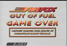 Game Over Screen for Fire Fox.