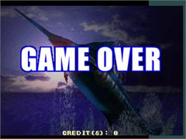 Game Over Screen for Fisherman's Bait - Marlin Challenge.