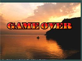 Game Over Screen for Fisherman's Bait 2 - A Bass Challenge.