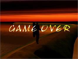 Game Over Screen for Fishing Maniac 3.