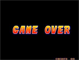 Game Over Screen for Fit of Fighting.
