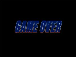 Game Over Screen for Flame Gunner.