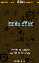 Game Over Screen for Flying Tiger.