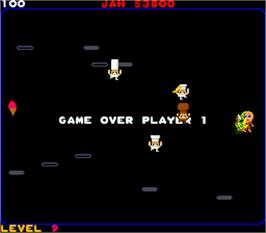 Game Over Screen for Food Fight.