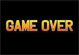 Game Over Screen for Football Champ.