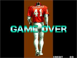 Game Over Screen for Football Frenzy.