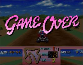 Game Over Screen for Four Trax.