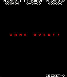 Game Over Screen for Frog & Spiders.