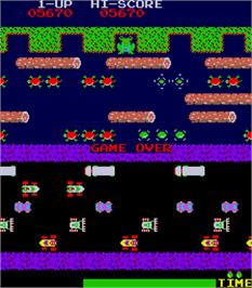 Game Over Screen for Frogger.