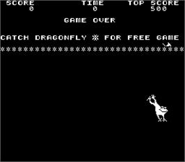 Game Over Screen for Frogs.