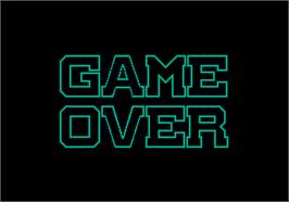 Game Over Screen for G-LOC Air Battle.