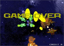 Game Over Screen for Galactic Storm.