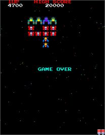 Game Over Screen for Galaga.