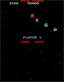Game Over Screen for Galaga 3.