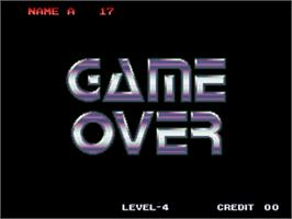 Game Over Screen for Galaxy Fight - Universal Warriors.
