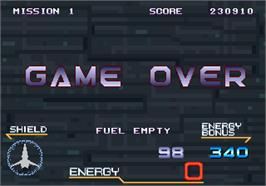 Game Over Screen for Galaxy Force 2.