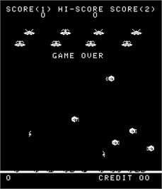 Game Over Screen for Galaxy Wars.