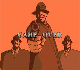 Game Over Screen for Gang Hunter.
