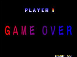 Game Over Screen for Ganryu / Musashi Ganryuki.