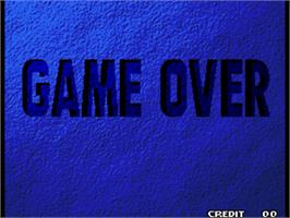 Game Over Screen for Garou - Mark of the Wolves.
