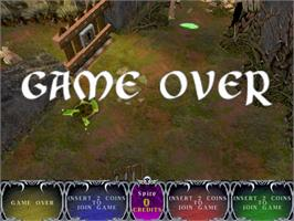 Game Over Screen for Gauntlet Dark Legacy.