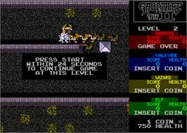 Game Over Screen for Gauntlet II.
