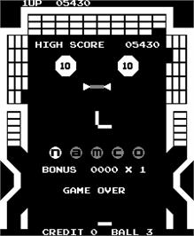 Game Over Screen for Gee Bee.