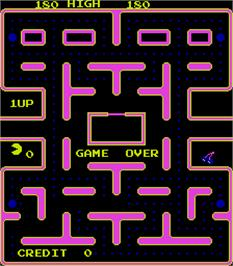 Game Over Screen for Ghostmuncher Galaxian.