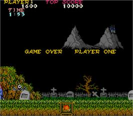 Game Over Screen for Ghosts'n Goblins.