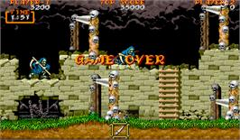 Game Over Screen for Ghouls'n Ghosts.