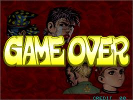 Game Over Screen for Gogetsuji Legends.