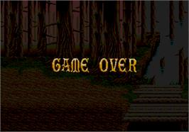Game Over Screen for Golden Axe II.