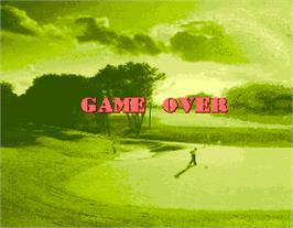 Game Over Screen for Golfing Greats.
