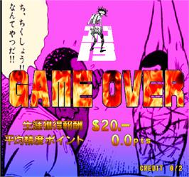 Game Over Screen for Golgo 13 Kiseki no Dandou.