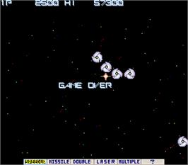 Game Over Screen for Gradius.