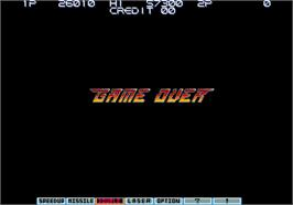 Game Over Screen for Gradius III.